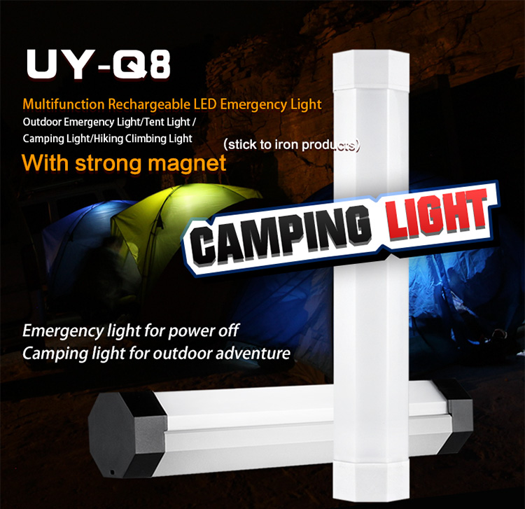 UYLED Q8 12V camping equipment best led flashlight led camping lights