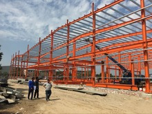 china supplier factory steel structure warehouse drawings and production