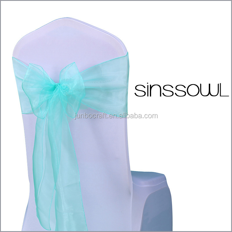 Big Promotion Sale Curly Willow Chair Sash Crystal Soft Organza Cheap Chair Covers Chair Sashes Bow Ties for Wedding Party Hotel