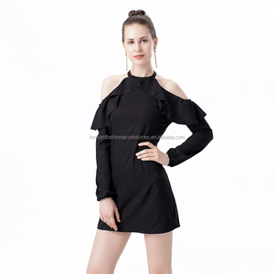 cheap China suppliers wholesale long sleeves bare shoulders women clothing