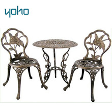 Cast aluminum bistro / garden set/ furniture cast aluminum patio furniture