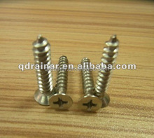 din7983 yellow color brass color black color self tapping drywall screw cross recessed raised counter sunk tapping screw