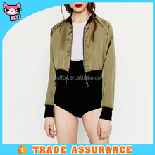 Hot sexy girls spring half jacket/high quality bomber jacket for women