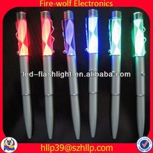 2014 China Supplier New Style Colourful Led Flashing roller ball pen refill