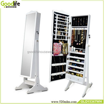 Top selling mirror jewelry armoire storage cabinet jewelry box