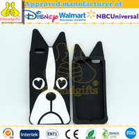 New brand silicone dog bling mobile phone cover/plastic case for iPhone 6