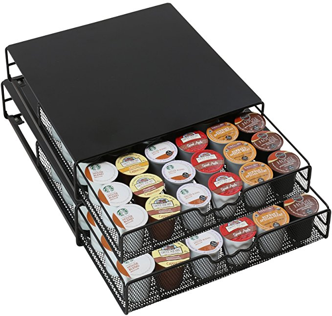 K-cup Storage Drawer Holder for Keurig K-cup Coffee Pods Black Color