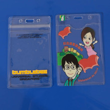 Clear plastic id card holder/student name tag holder