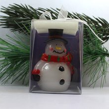 art candle/ christmas snowman candle/fancy christmas candle