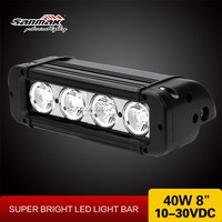 High power 40w single row 2700lumen output 4x4 off road CREE led Bar Light
