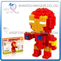 Mini Qute BALODY American Marvel Avenger super hero robot plastic Series connect building blocks boys educational toy NO.68007