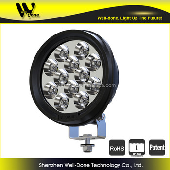 60W super bright round led driving light, Asian car light accessories maker