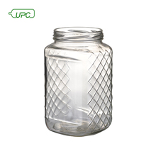 180ml clear french square glass bottle for honey