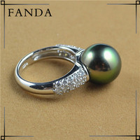 Sea pearl price Tahitian pearls pearl jewelry ring mountings design
