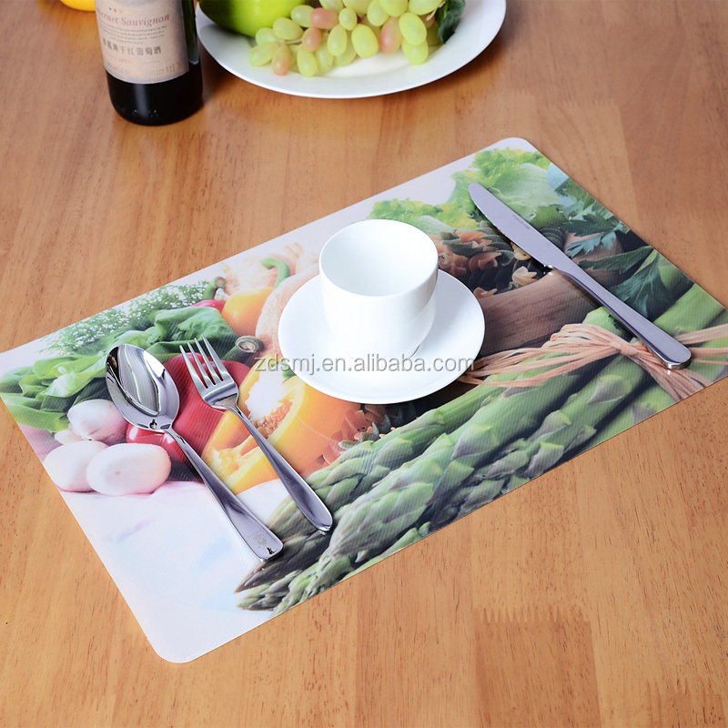 43x28cm rectangular LFGB standard plastic table mat,plastic placemat