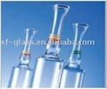 Glass ampoules.
