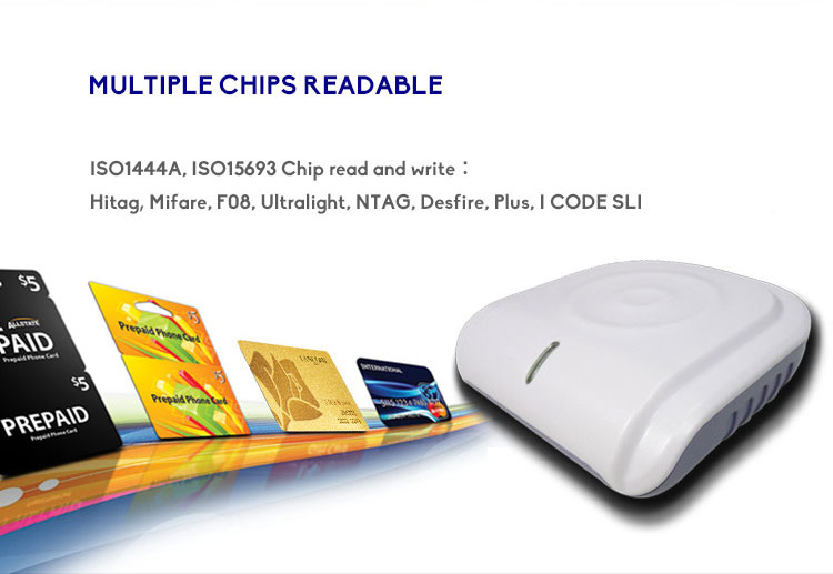 13.56MHz HF MIFARE DESFire EV1 USB/ RS232/ Wiegand RFID Smart Chip Card Reader and Writer
