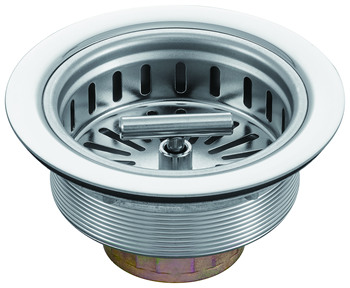 T shaped spin lock stainless steel sink strainer