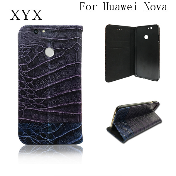 fantastic design flip standing function pu leather <strong>mobile</strong> phone case cover for huawei nova 2017