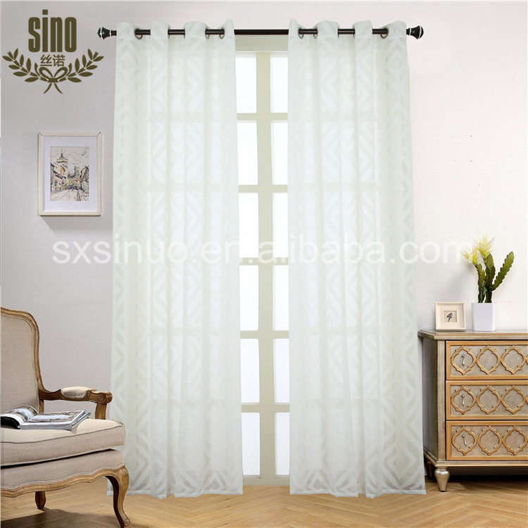 Ready Made jacquard voile window curtain