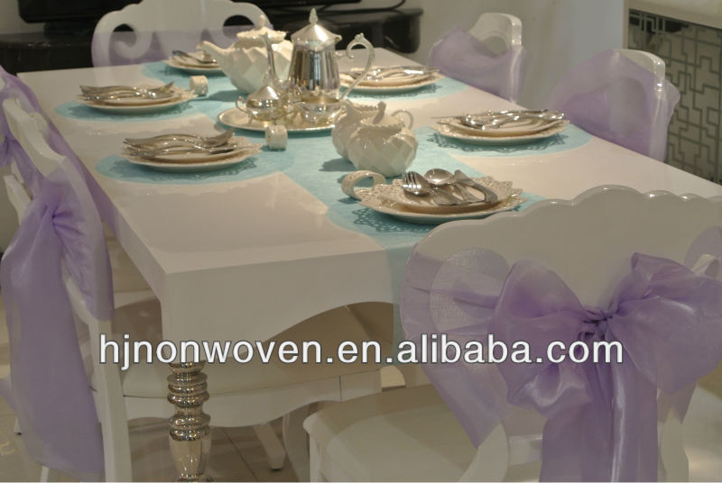 wedding chairs decoration lilac organza chair sashes