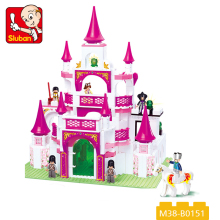 hot sale kids castle 508 pcs plastic blocks toys for kids 2018