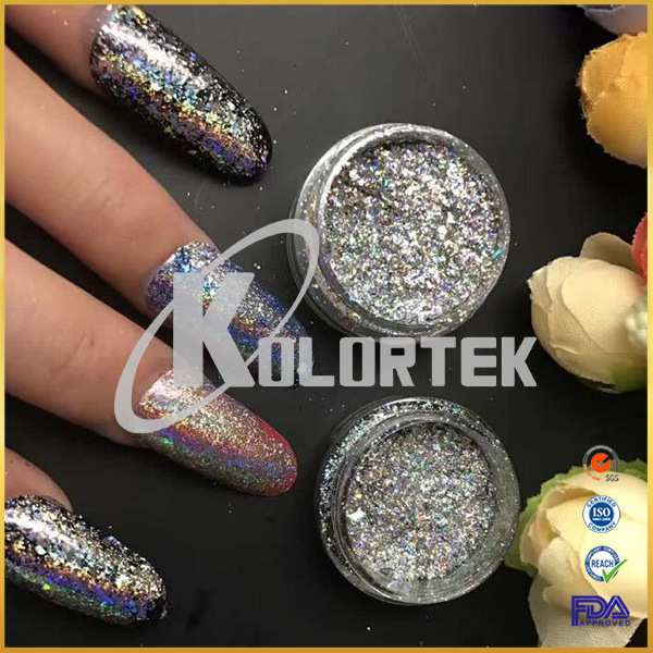 2018 New products holographic multi color flakes for nail polish