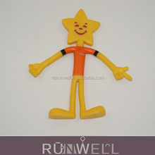 Promotion gift pvc material bendable action figures