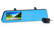 4.3 Inch 1080P Full HD Dual Camera Rear View Mirror Car DVR