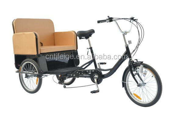 "2015 hot sale 20"" adult rickshaw/tricycle/trike/bicycle/cycle"