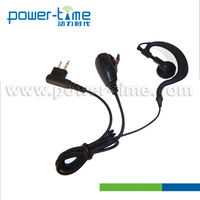 Hot selling noise cancelling ear plug/Hook/ Hanger Headset headphone earphone for all kind of Walkie Talkie (PTE-110)