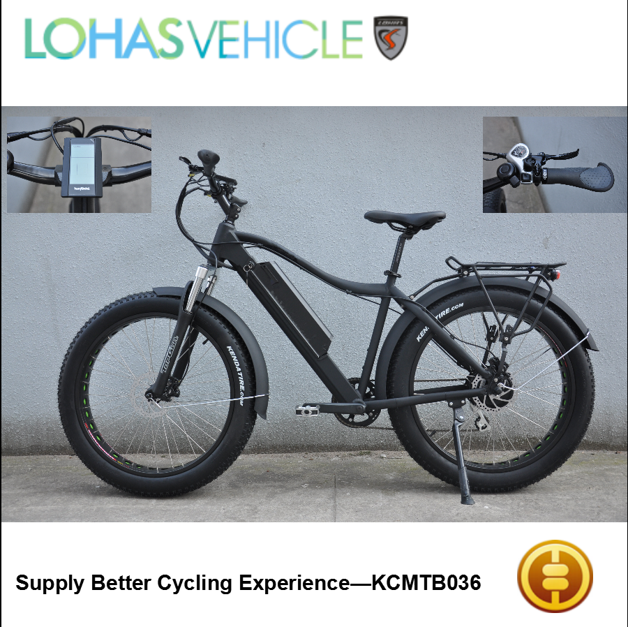 blushless motor mountain electric bicycle fashionable fat electric bike KCMTB036