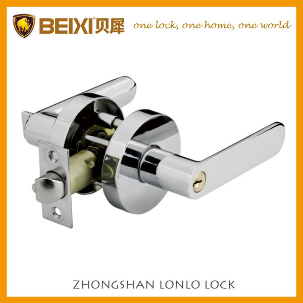 Heavy duty door leverset for keyed entry door lock South America and Australia market