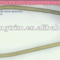 Gold Stretch Metal Belt With Bow