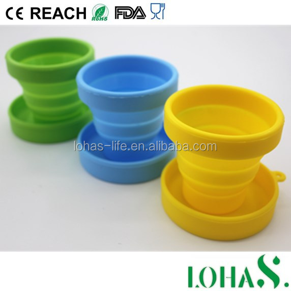 New Fashion Mini Silicone Travel Cup Recyclable Silicone Cup Tube Cup
