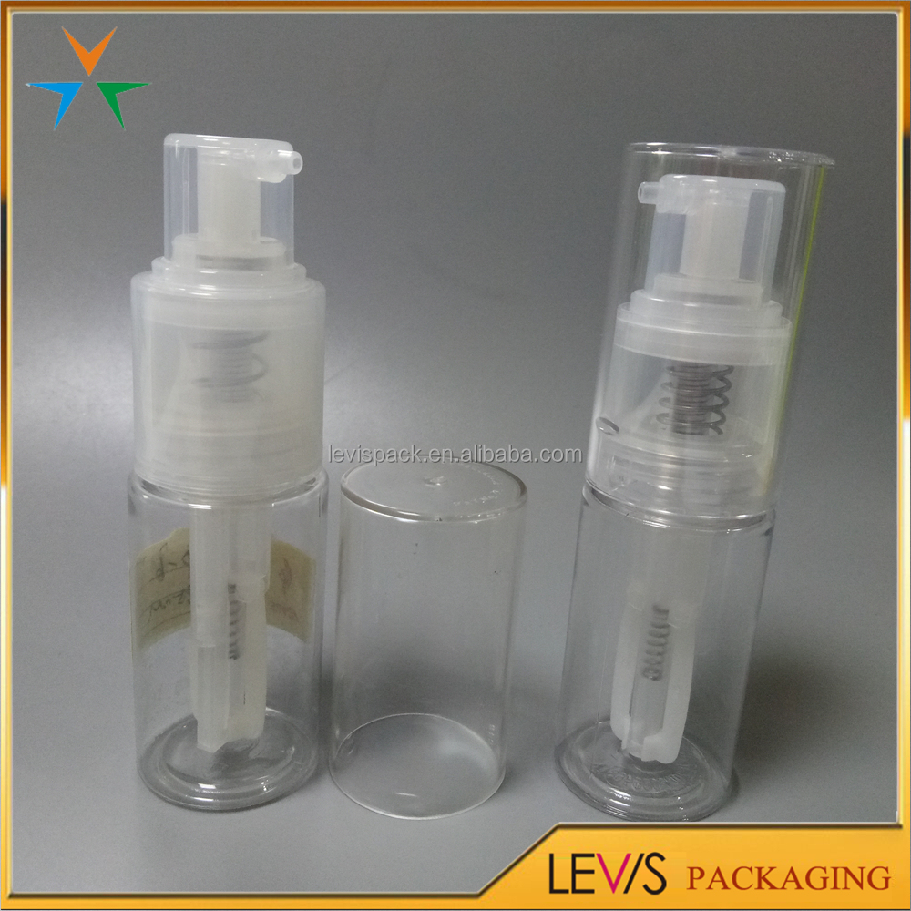 Top quality clear plastic 35ml powder spray for hair giltter