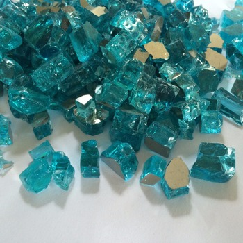 Cheap crushed colored tempered fireplace glass chips