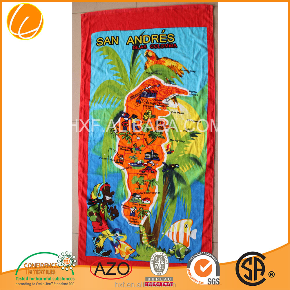 coton printed beach towel custom 2017 Hotsale OEM Manufacture wholsales promotion custom high quality outdoor high quality