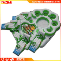 10 person Inflatable Raft Party Boat used for Lake River, Tropical Tahiti Floating Island
