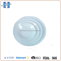 4pcs cheap melamine round white dinner plates for restaurant