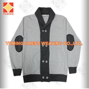 2014 Wholesale Plain Grey melange Color Cotton Stretch Casual Men Winter Jackets