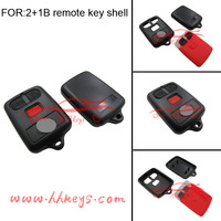 Blank key house with logo for Toyota 2+1buttons fobs