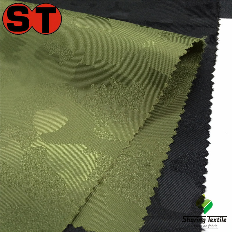 stock 100%polyester jacquard lining fabric/cationic dyed jacquard fabric/two-tone camouflage printed fabric