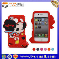 DDUNG Lovely Motor Girl Soft 3D Silicone Case for iPhone 4S