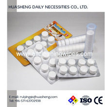 compressed towels for hand wipes face cleaning Compressed Tablet Tissue