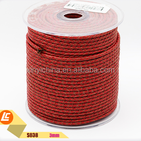 Natural Edges Round Woven Leather Cord 3mm