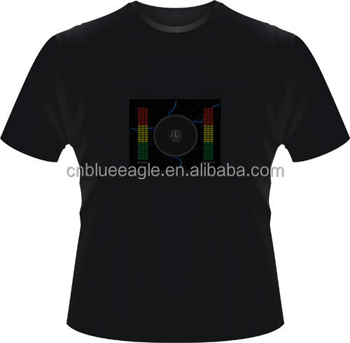 Led flashing playable Electronic Rock Guitar t-shirts led flashing t shirt