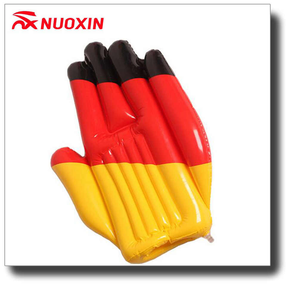 0.18MM PVC printed inflatable hand for promotion