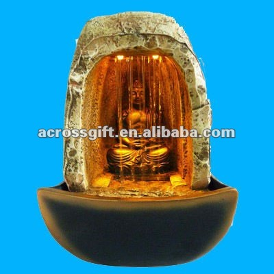 Religious decorative resin indoor fountain