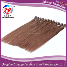 Italy Glue Invisible VIrgin Brazilian Prebonded Wholesale Nail Tip Fusion Hair Extensions High Quality